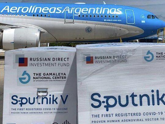 Hoy a las 23 parte el cuarto vuelo de Aerolíneas Argentinas a Moscú para traer más dosis de la vacuna Sputnik V