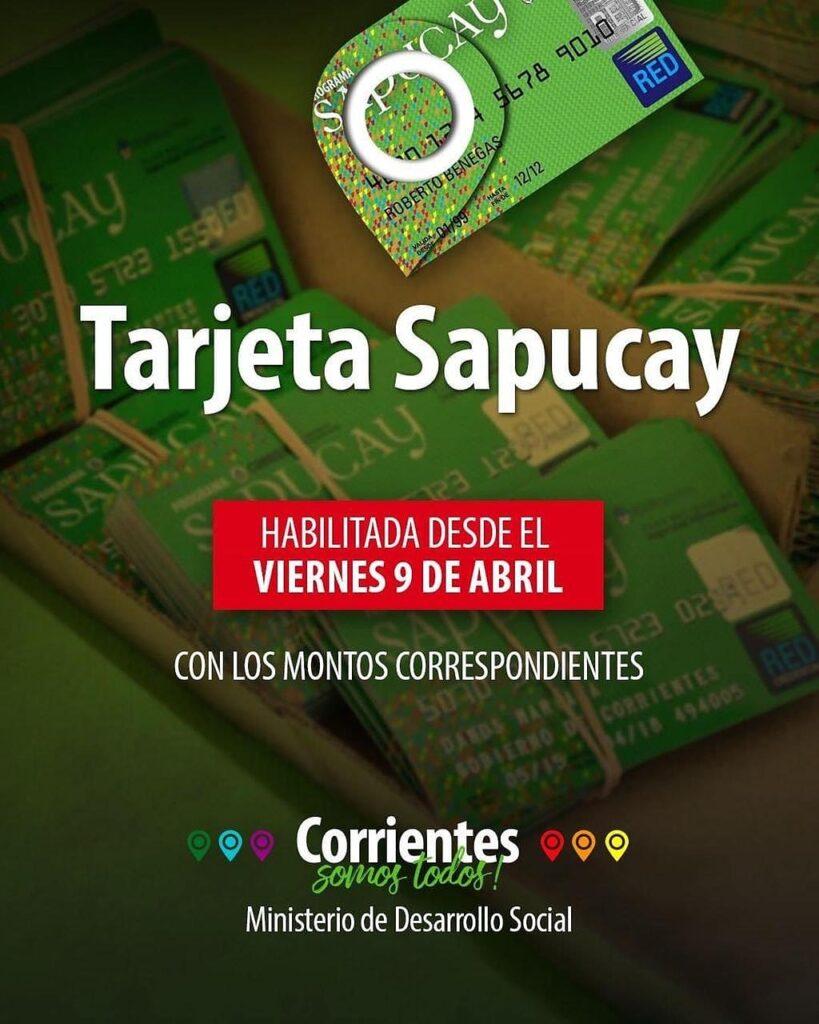 Desde este viernes 9 se habilitan las tarjetas Sapucay