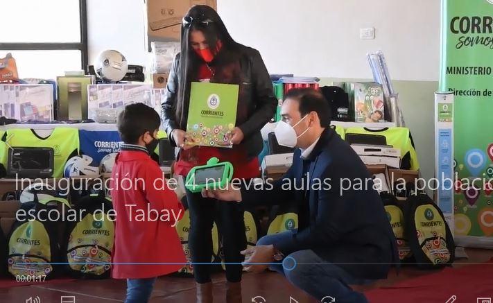 Inauguración de 4 nuevas aulas para la población escolar de Tabay