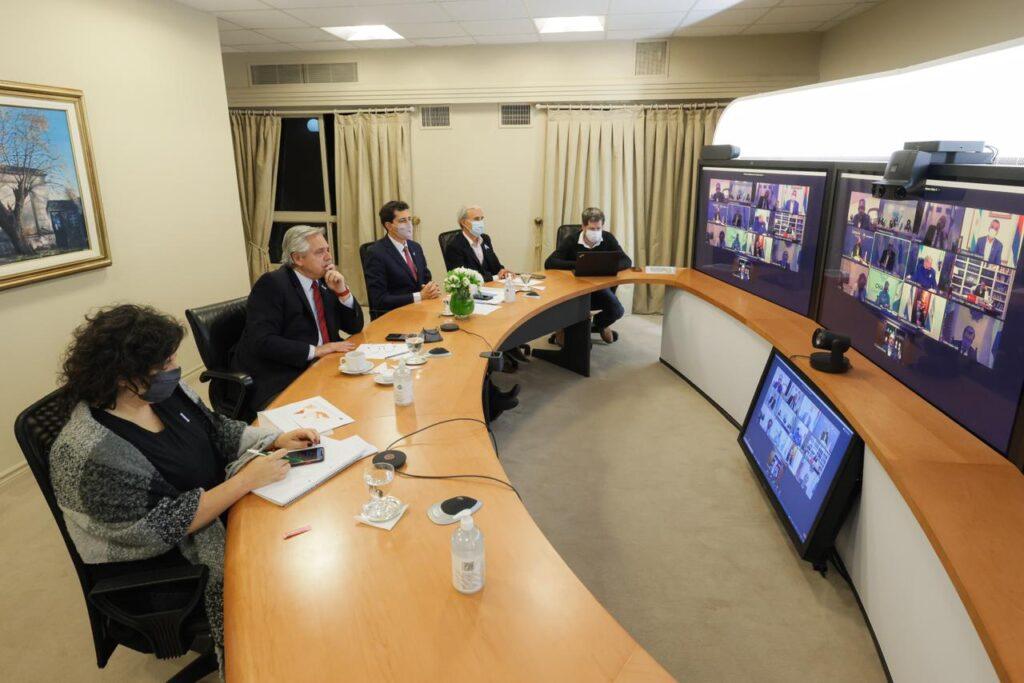 Coronavirus: el Presidente mantuvo una videoconferencia con 12 gobernadores para analizar la situación sanitaria