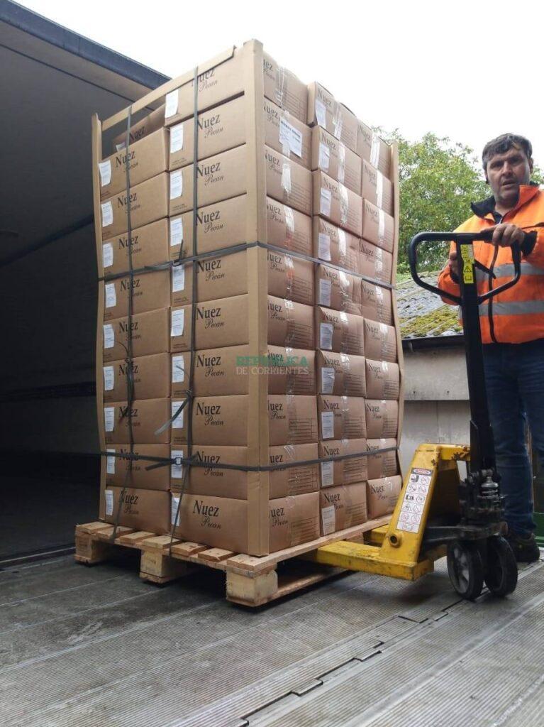 Distribuyen por Europa el cuarto envío de nueces pecán correntinas